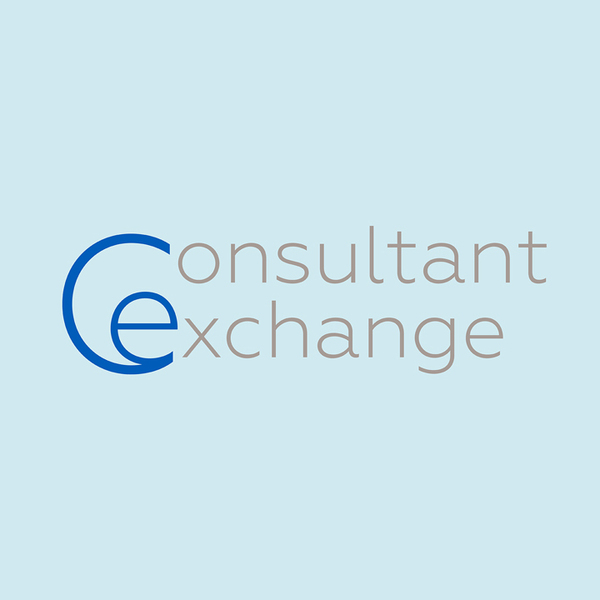 Consultant Newsletter logo on blue background