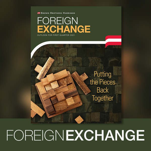 Cover photo with wooden jenga blocks on a background of timber and Foreign Exchange Outlook for First Quarter 2021 written at the top.
