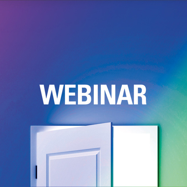 Open door with the word Webinar over it