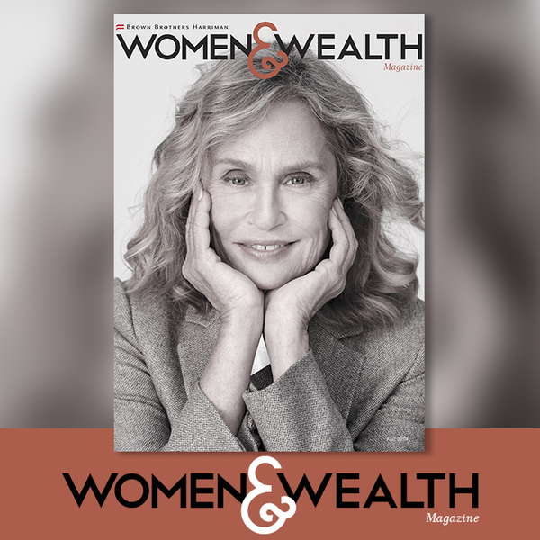 BBH Women & Wealth magazine cover featuring Lauren Hutton