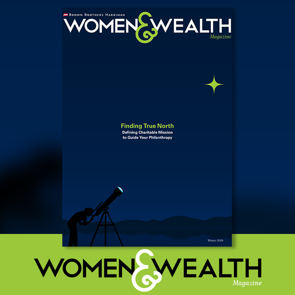 Full cover of the winter 2019 issue of Women and Wealth Magazine