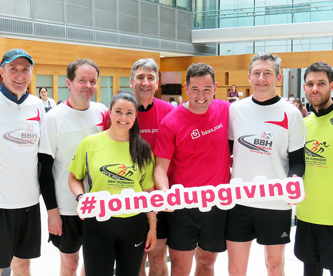 Dublin office runners at Dublin Basis Point run