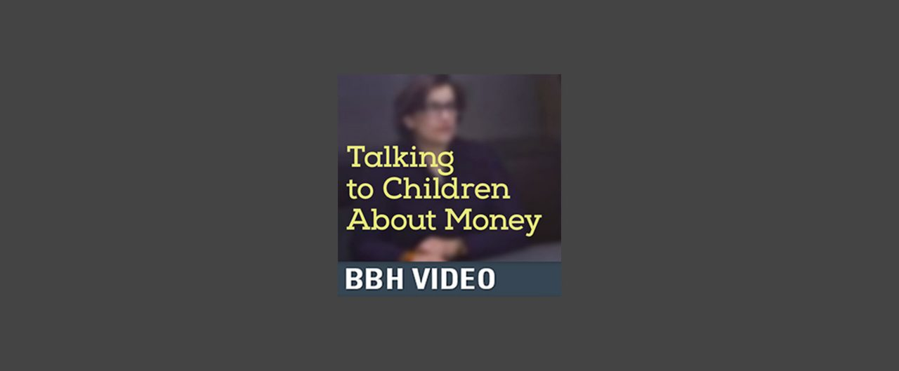image of adrienne penta with words: Talking to Children about Money