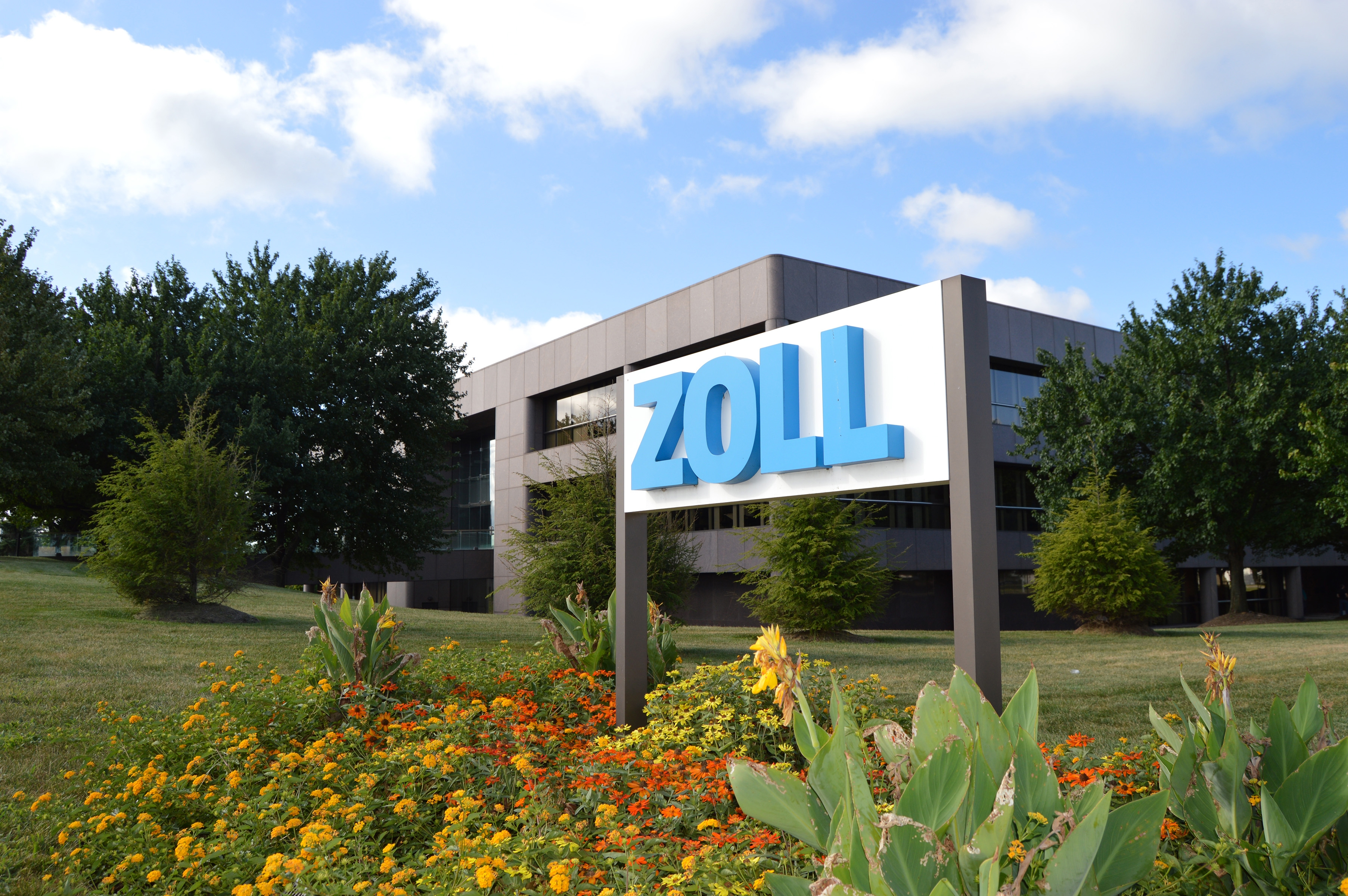 Zoll Medical sign and building
