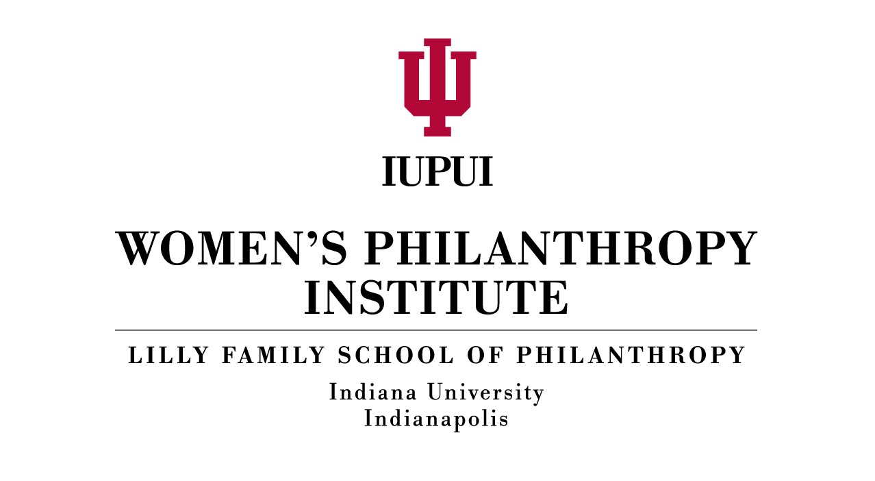 IUPUI Women's Philanthropy Institute logo on a white background.